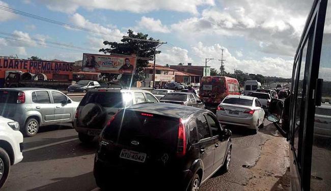 Protestos causam extensos congestionamentos nas rodovias - Foto: Antônio Sávio Navarro   Foto do leitor