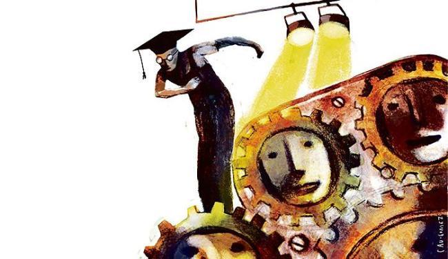 Apenas 28% dos estudantes de graduação recebem capacitação para empreender, mas cenário vem mudando - Foto: Cau gomez l Editoria de Arte A TARDE