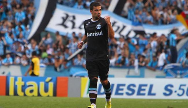 André Lima estava no Grêmio, em 2012, antes de se transferir para o futebol chinês - Foto: Lucas Uebel/Grêmio
