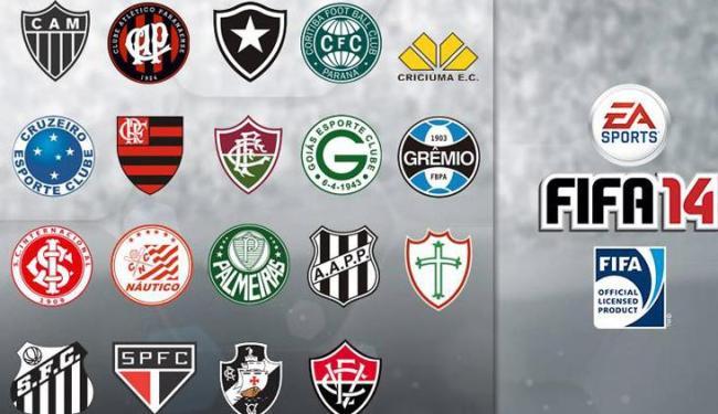 19 times brasileiros estão confirmados no game; Bahia e Corinthians não aparecem na lista - Foto: EA Sports / Divulgação
