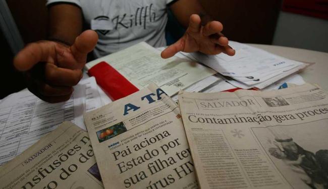 Pai conta que jovem contraiu HIV ao fazer transfusão de sangue no Hospital Geral Roberto Santos - Foto: Iracema Chequer | Ag. A TARDE