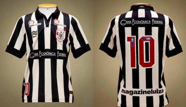 Uniforme preto e branco era utilizado até 1902, quando o clube aderiu o futebol - Foto: Esporte Clube Vitória | Divulgação