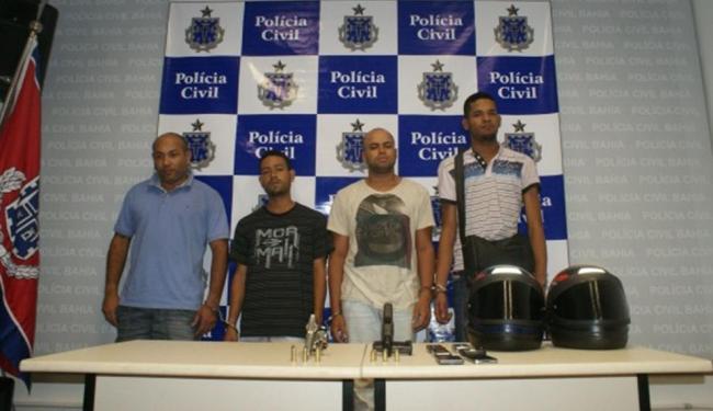 Os criminosos foram presos quando se preparavam para uma nova ação - Foto: Polícia Civil | Divulgação