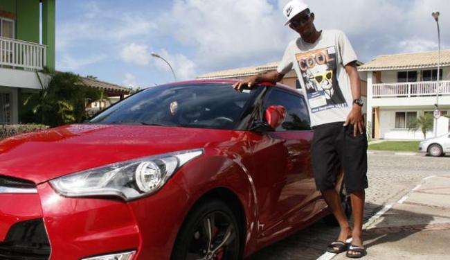 Dono de um Veloster de R$ 70 mil, Talisca comemora titularidade no Bahia e superação na vida - Foto: Joá Souza/ Ag. A Tarde