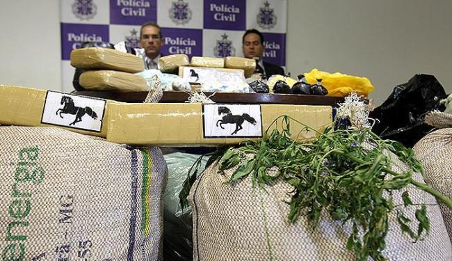 Material apreendido foi apresentado à imprensa, na manhã desta quarta, 24 - Foto: Lúcio Távora | Ag. A TARDE