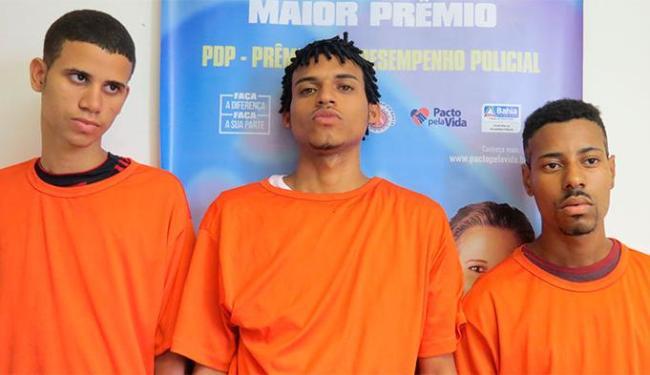 Criminosos foram presos na segunda-feira, 29, na Rua 20 de Agosto - Foto: Divulgação | SSP