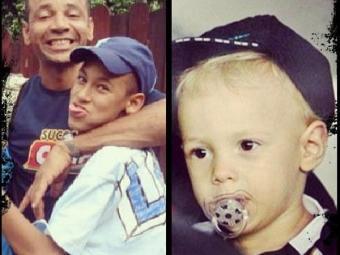 Neymar ao lado do pai e o pequeno Davi Lucca, à direita - Foto: Reprodução | Instagram