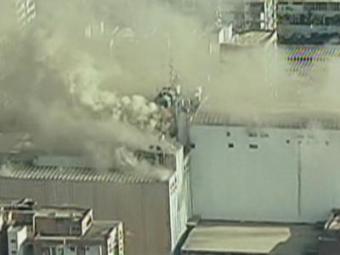 O Corpo de Bombeiros está no local desde o início da manhã - Foto: Reprodução | GloboNews