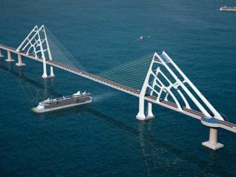 Ponte deverá ser a 2ª maior da América Latina, com 12 km de extensão - Foto: Ascom-Seplan/ Divulgação