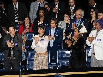 Cantores acompanharam votação da Lei de Direitos Autorais - Foto: Alan Marques | Folhapress