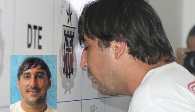 Imagem de Gutão quando foi detido em julho de 2010 - Foto: Arestides Baptista   15.7.2010   Ag. A TARDE