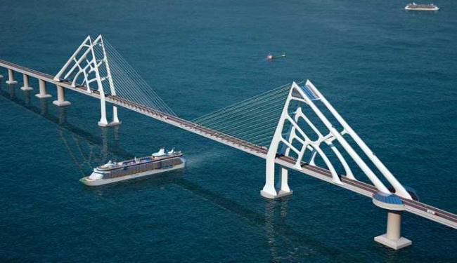 Ponte será a 2ª maior da América Latina, com 12 km de extensão - Foto: Ascom-Seplan/ Divulgação