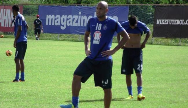 Sem poder contar com Fernandão, por questões contratuais, Souza deve assumir o seu lugar - Foto: Assessoria do Esporte Clube Bahia / Divulgação