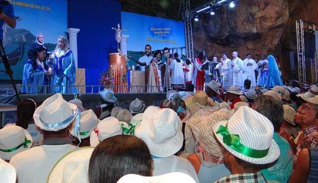 Romeiros vêm do interior da Bahia, Minas Gerais, Goiás e Espírito Santo - Foto: Divulgação do Santuário