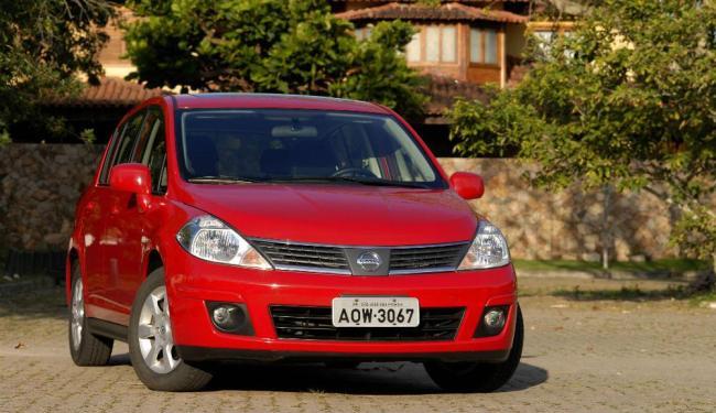O Tiida era o único representante da Nissan nos hatches médios - Foto: Divulgação