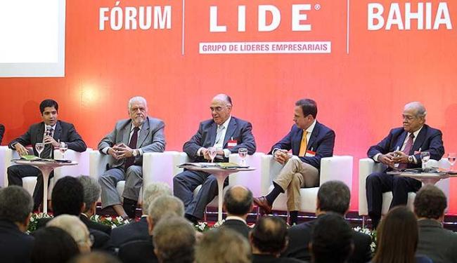 Governador e prefeito participaram de encontro de empresários - Foto: Lúcio Távora | Ag. A TARDE