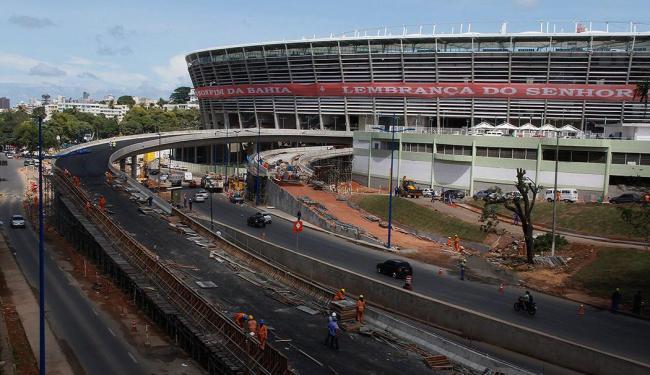 Arena Fonte Nova quatro dias antes da sua inauguração em sete de abril de 2013 - Foto: Joá Souza | Ag. A TARDE