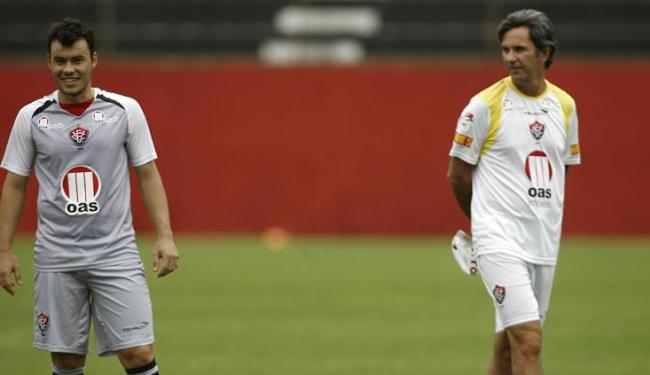 Cajá mandou repórter 'perguntar ao treinador' motivo da queda de rendimento do Vitória - Foto: Raul Spinassé / Ag. A TARDE