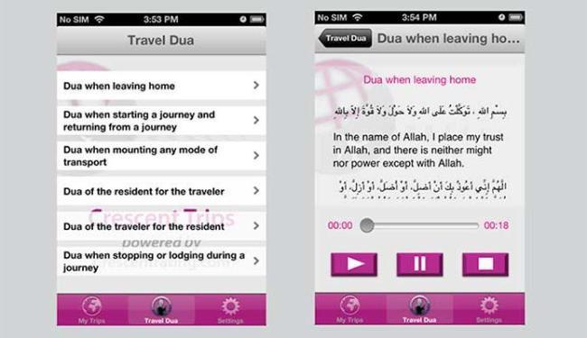 Aplicativo também mostra os horários para rezar - Foto: Divulgação