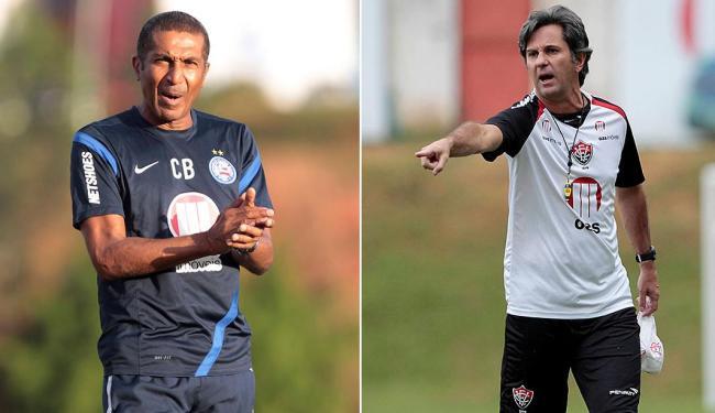 Cristóvão Borges e Caio Jr, treinadores da dupla Ba-Vi - Foto: Eduardo Martins | Ag. A TARDE