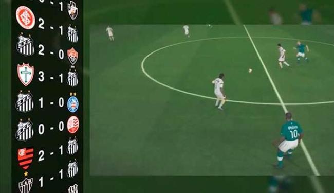 Jogos e escudos de times brasileiros, dentre eles a dupla Ba-Vi, ilustram o tutorial do game - Foto: Divulgação