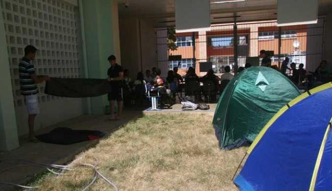Estudantes ocupam campus da Prainha da Ufob - Foto: Miriam Hermes | Ag. A TARDE