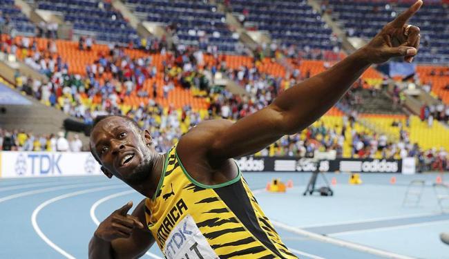 Bolt completa a prova em 19s66, melhorando seu tempo na temporada - Foto: Agência Reuters
