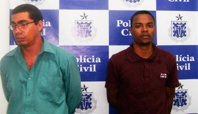Jorge, que era motorista da EBDA (à esquerda), e Mário foram presos em Valéria - Foto: Divulgação | Polícia Civil