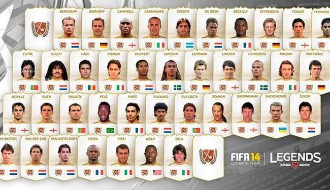 Pelé e outros craques do passado estarão no modo Ultimate Team do Xbox - Foto: Divulgação