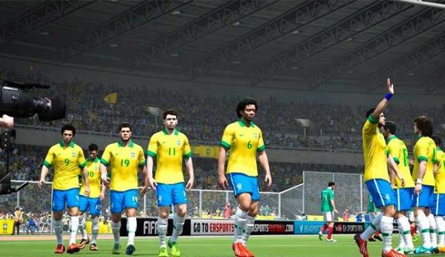 Seleção usará o uniforme oficial da CBF no Fifa 14 - Foto: Divulgação