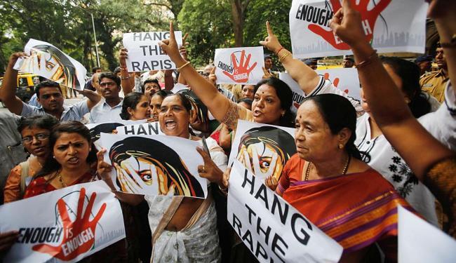 Mulheres protestam por estupro de jornalista na Índia - Foto: Agência Reuters