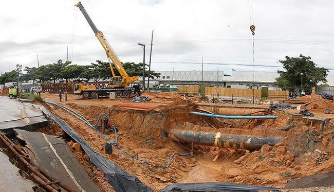 Pedágio da Praça 1 poderá ser suspenso até que seja providenciado o fechamento da cratera - Foto: Lúcio Távora / Ag. A TARDE