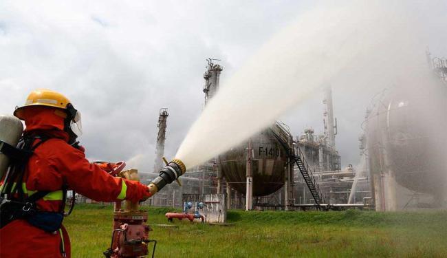 Treinamento simulou vazamento de substância tóxica - Foto: Divulgação   Cofic