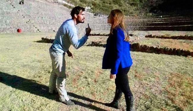 Ninho insiste para que Paloma vá embora com ele e Paulinha - Foto: TV Globo | Divulgação