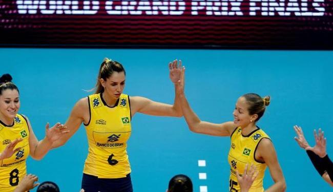 Seleção feminina conquistou a sua 3ª vitória consecutiva por 3 sets a 0 na fase final do Grand Prix - Foto: FIVB | Divulgação