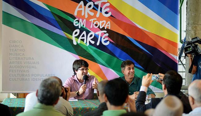 Coletiva de lançamento dos editais de cultura Arte em Toda Parte - Foto: Valter Pontes | Agecom