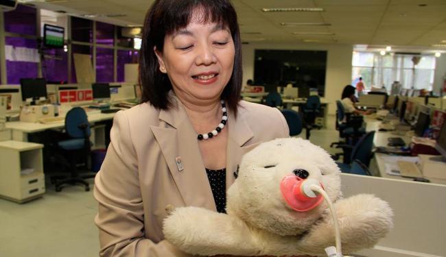Cônsul do Japão em Recife, Hitomi Sekeguchi, trouxe Paro para visitar o Grupo A TARDE - Foto: Joa Souza | Ag. A TARDE