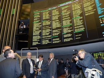 Natan Donadon no plenário da Câmara dos Deputados para sessão extraordinária - Foto: Fabio Rodrigues Pozzebom | Ag. Brasil