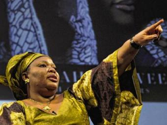 A ativista liberiana Leymah Gbowee - Foto: TIMOTHY A.CLARY/AFP PHOTO