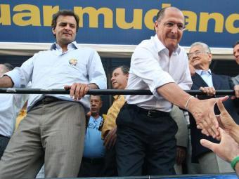 Governador Alckmin chamou o mineiro Aécio de