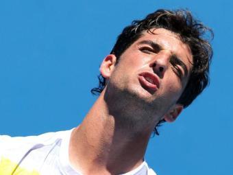 O número 1 brasileiro não conseguiu superar Mayer - Foto: Dennis Sabangan / Agência EFE