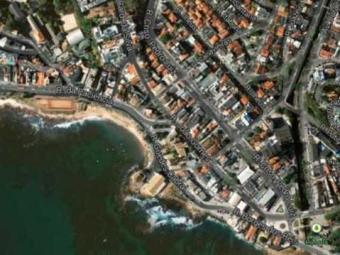 Transalvador vai bloquear algumas vias no bairro do Rio Vermelho - Foto: Google Maps | Reprodução
