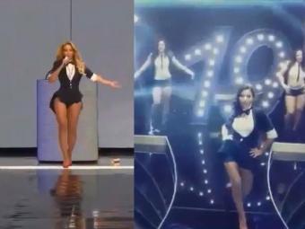 Vídeo revela que funqueira imita figurinos e danças de Beyoncé (Esq) - Foto: Reprodução