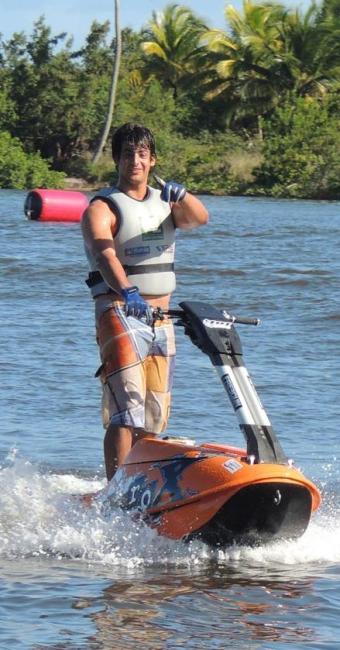 Bruno conquistou duas vezes o Internacional de Jet Ski Freeride (em 2011 e 2013) - Foto: Facebook | Reprodução