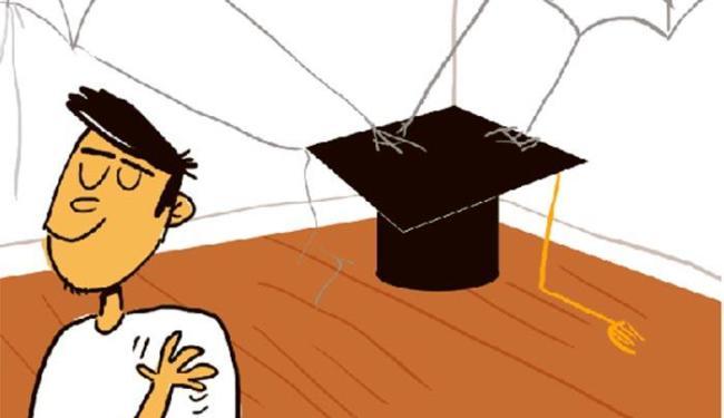 Estudantes entre 17 e 22 anos abandonam a graduação direto para mercado de trabalho - Foto: Editoria de Arte | A TARDE