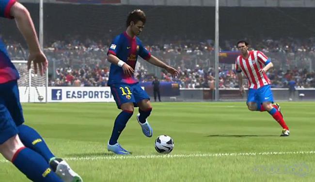 Neymar não entrou na lista preparada pelo game - Foto: Reprodução | Fifa 14