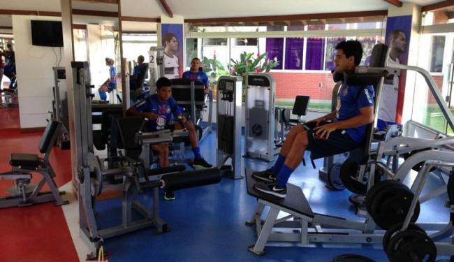 Titulares no jogo contra o Flu fizeram somente trabalho muscular na academia do clube - Foto: Esporte Clube Bahia | Divulgação