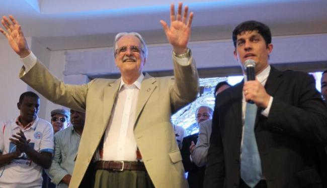 Schmidt disse que seu primeiro ato será tornar Carlos Rátis sócio-benemérito do clube - Foto: LUCIO TAVORA / AG. A TARDE