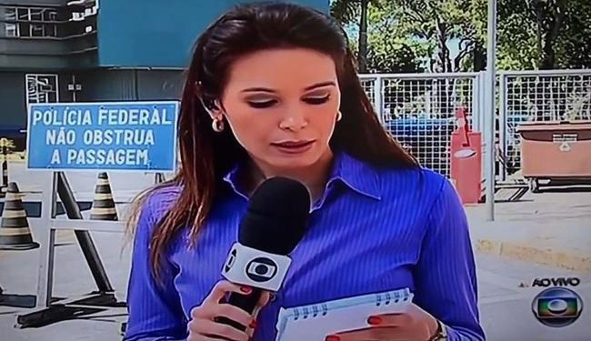 Repórter erra na entrada ao vivo no Jornal Hoje - Foto: Reprodução