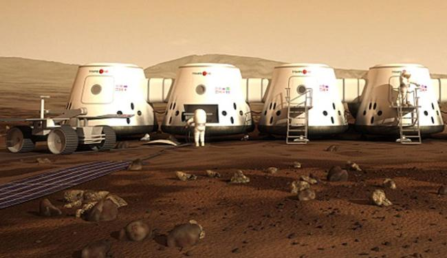Imagem da Mars One dos habitats que devem ser construídos em Marte - Foto: Divulgação | Mars One